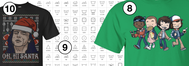 Top ten t-shirts: 10 to 8