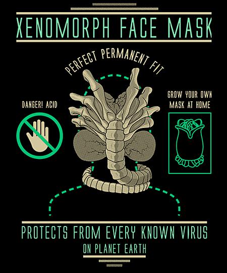 Qwertee: Xenomorph face mask