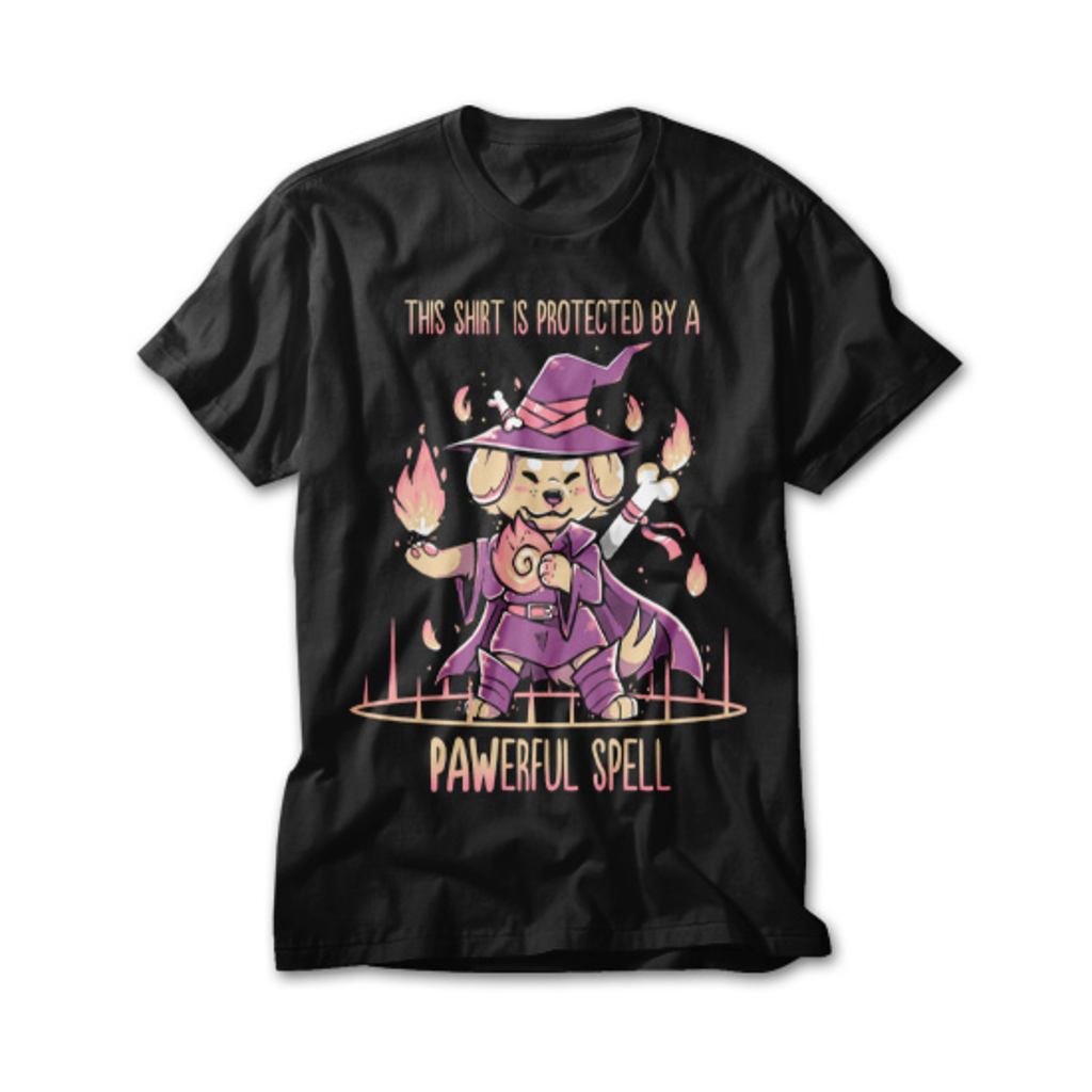 OtherTees: This Shirt is Protected by a PAWerful Spell