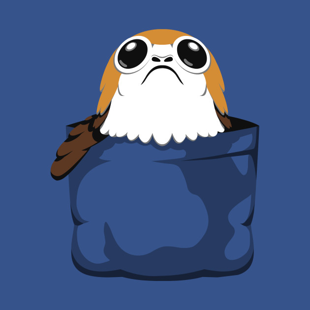 TeePublic: Porg in my Pocket