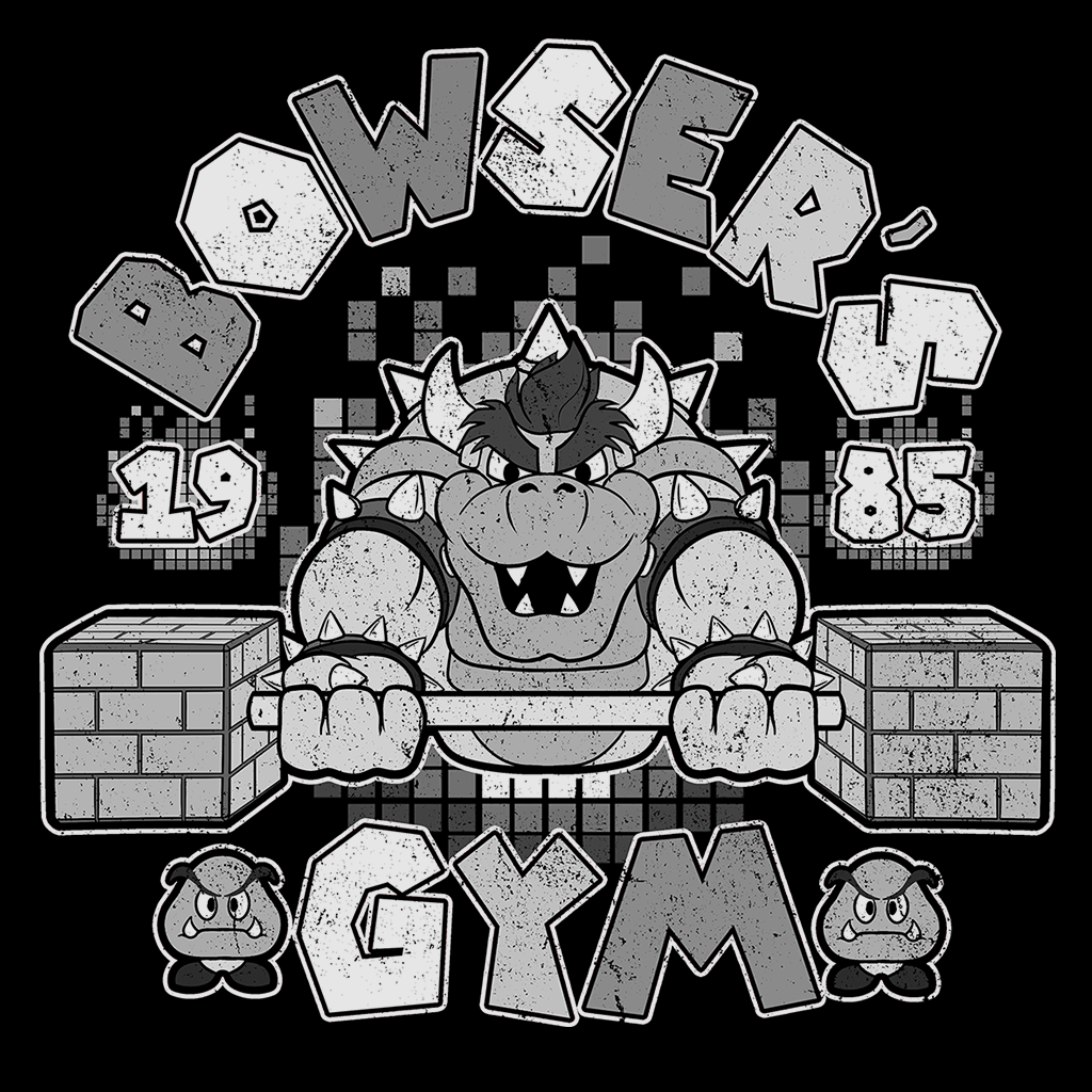 Pop-Up Tee: Bowser's Gym