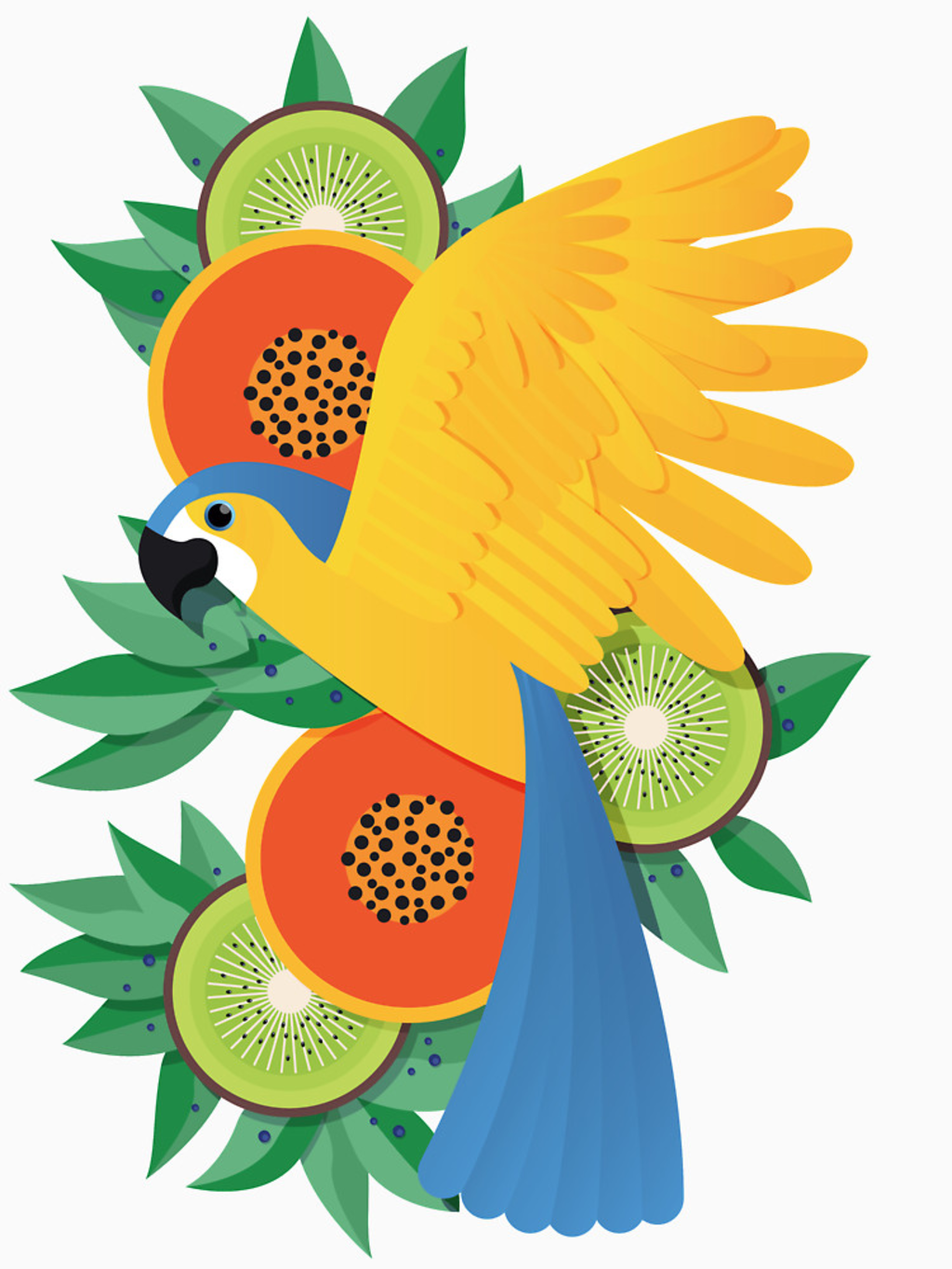 RedBubble: Tropical parrot