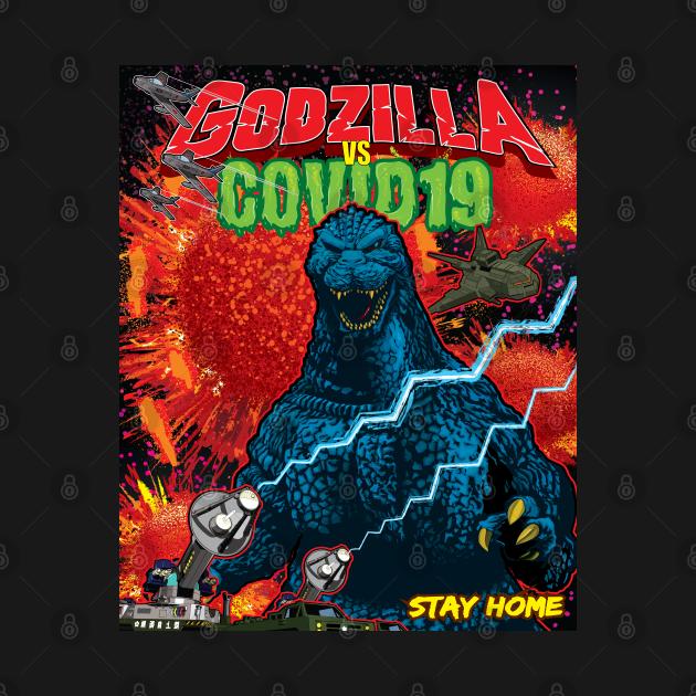 TeePublic: Godzilla VS COVID19