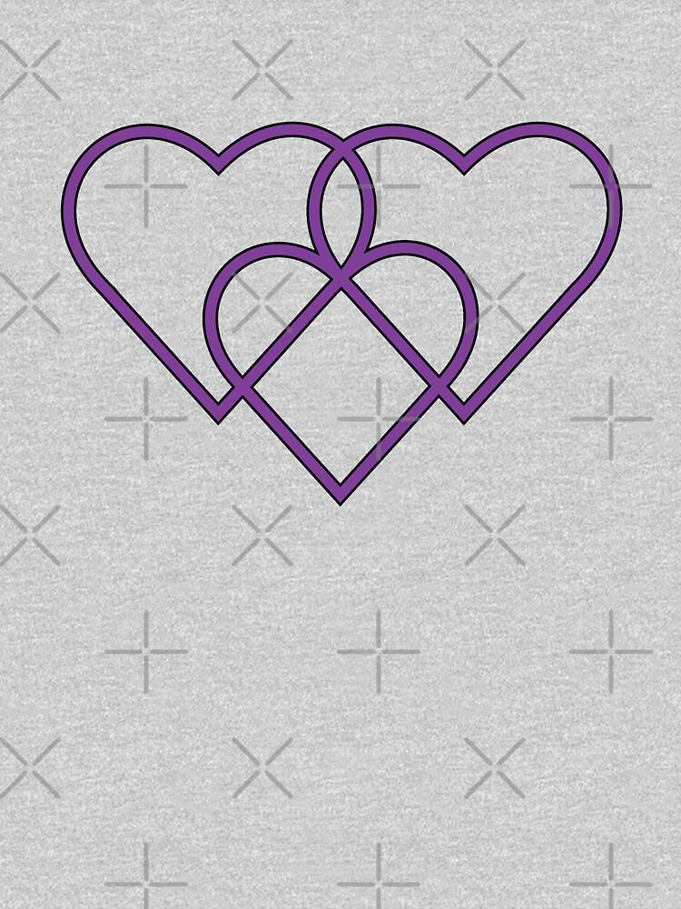 RedBubble: Purple 3 Hearts
