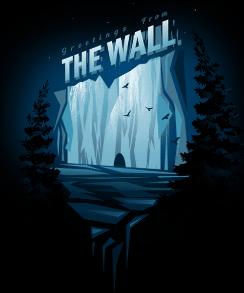 Qwertee: Greetings From The Wall