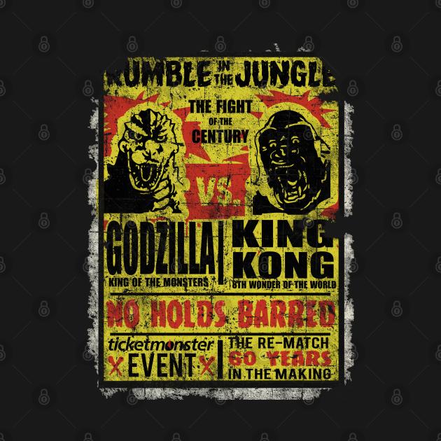 TeePublic: Godzilla vs. King Kong, distressed