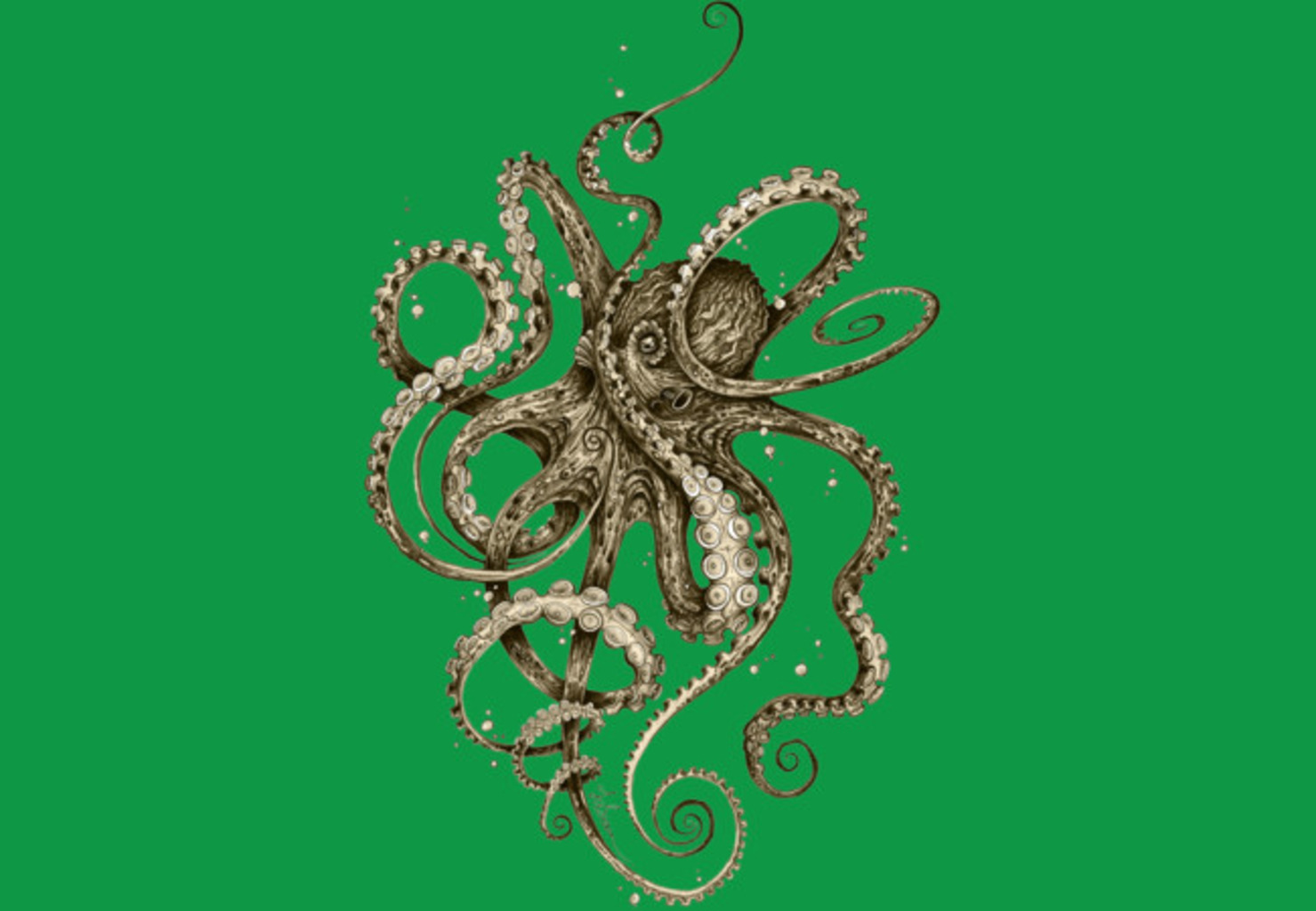 Design by Humans: Octopsychedelia Sepia