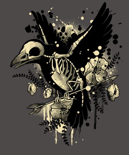 Qwertee: Raven bones