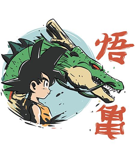 Qwertee: Shenron and Goku