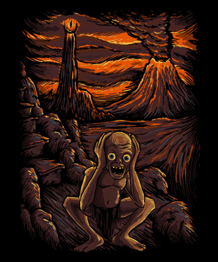 Qwertee: The Scream in Mordor