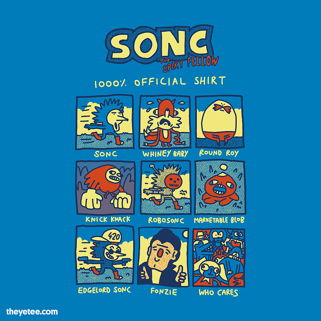 The Yetee: Sonc The Spiky Fellow 1000% Official Shirt