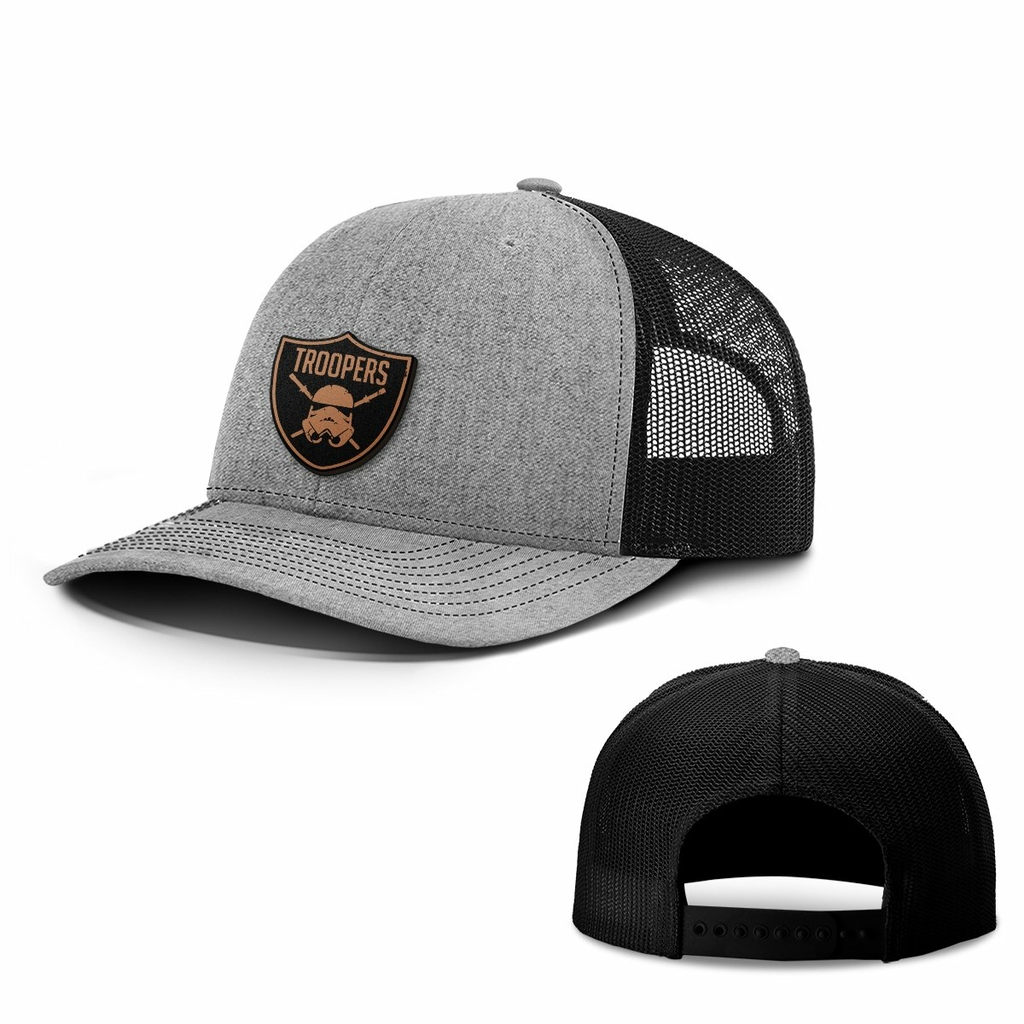 BustedTees: Troopers Leather Patch Hats
