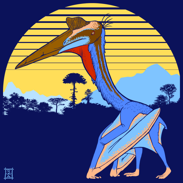 NeatoShop: Pterosaur Sunset (Dark Version)