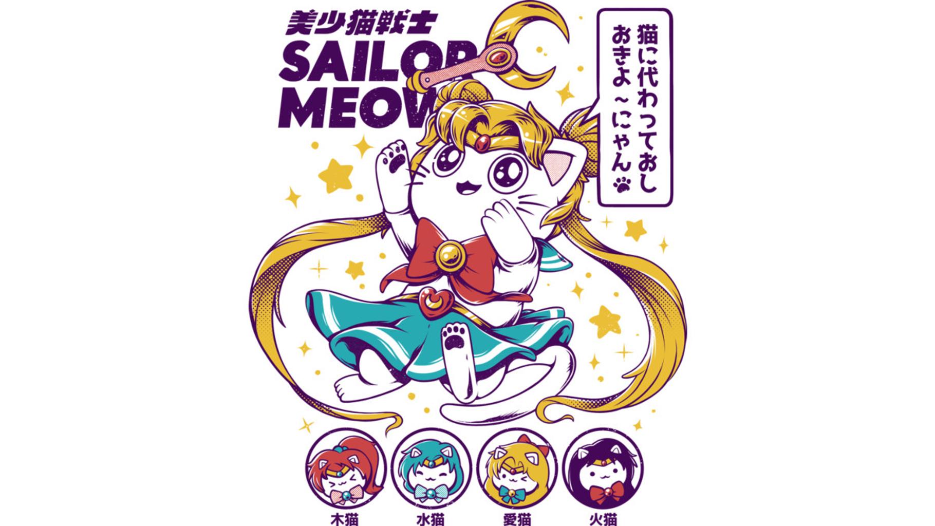 Design by Humans: Sailor Meow