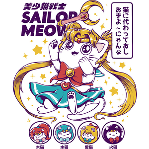 Design by Humans: Sailor Meow