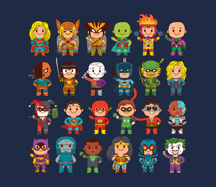 TeeFury: Delightfully Cute Little Heroes