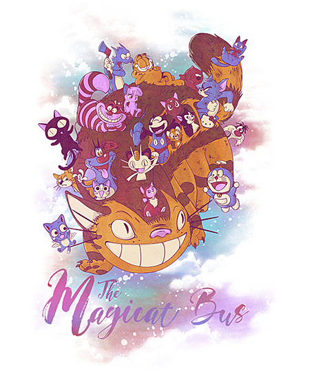 Qwertee: The Magicat Bus