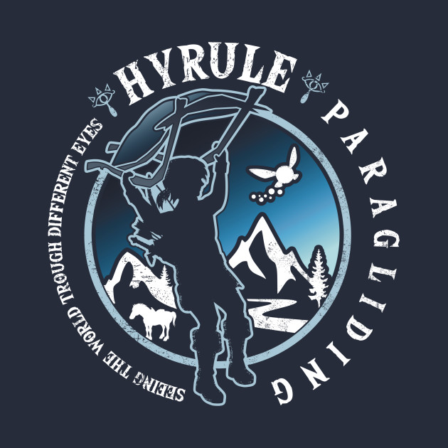 TeePublic: Hyrule Paragliding
