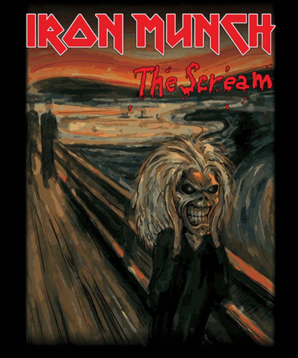 Qwertee: IRON MUNCH - The Scream