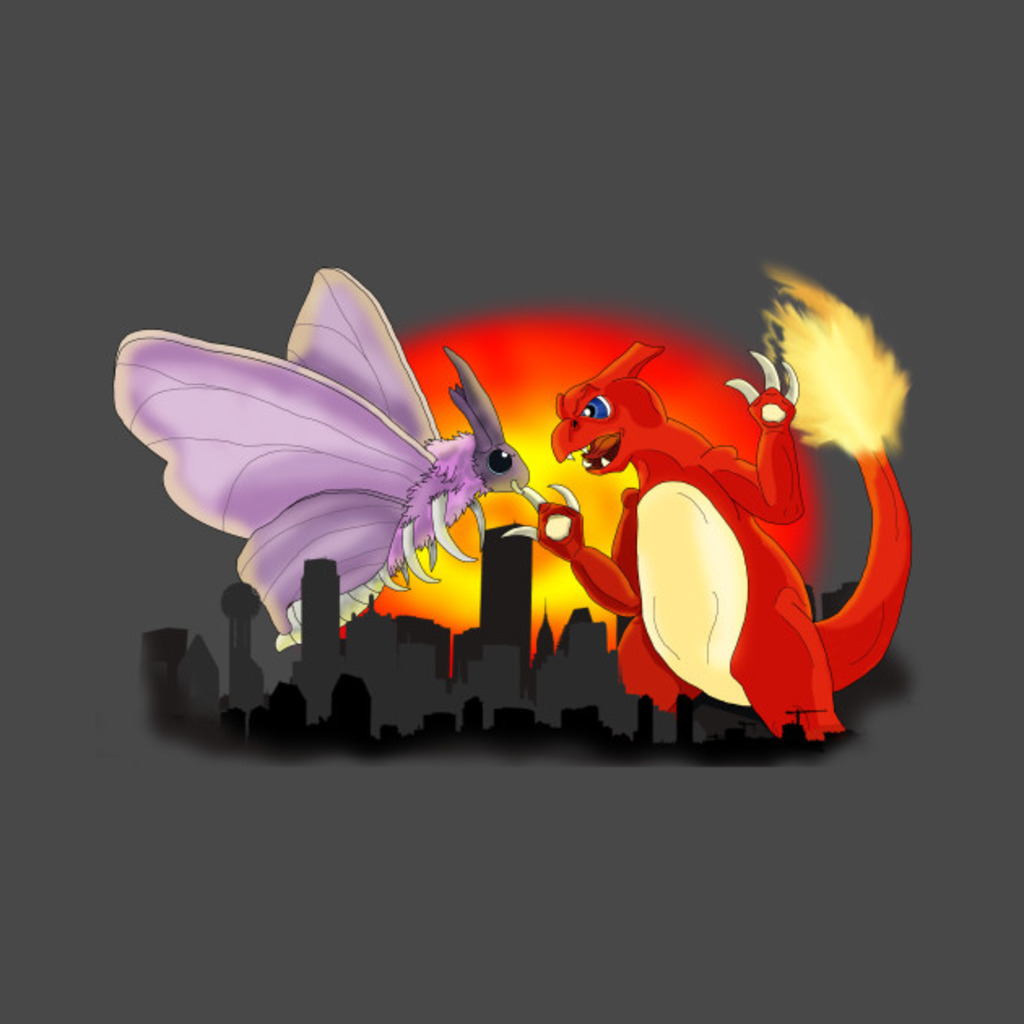 TeePublic: Venomothra Vs. Charzilla T-Shirt