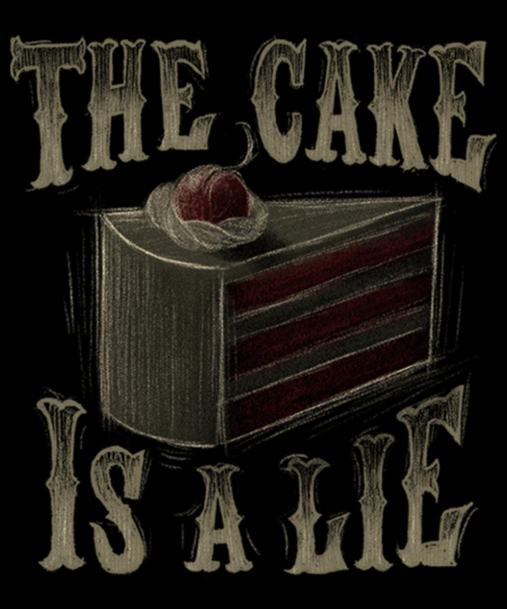Qwertee: The cake is a lie