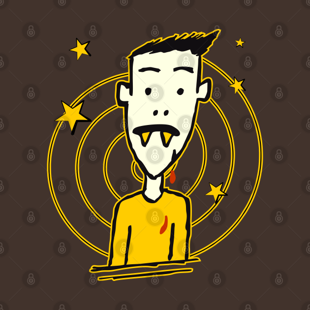 TeePublic: Vampire Dude with no glasses - doodle
