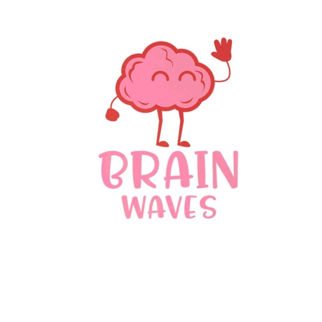 BustedTees: Funny Brain Waves Anatomy Humor T-Shirt