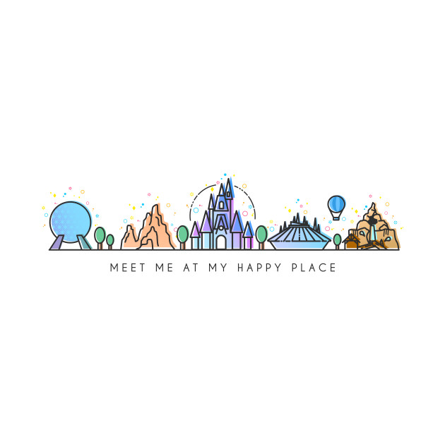 TeePublic: Meet me at my Happy Place