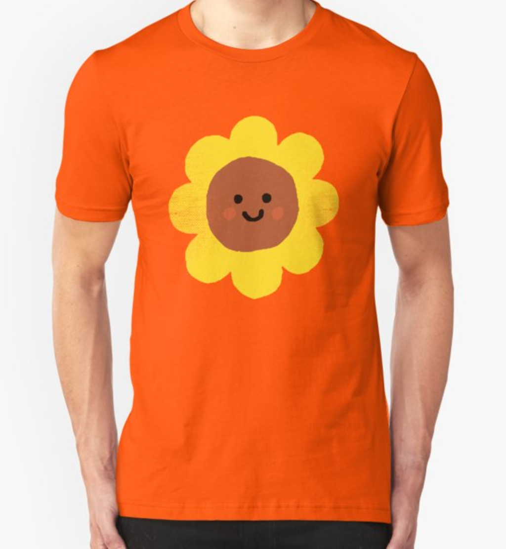 RedBubble: Happy flower