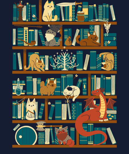 Qwertee: Library of the Ring