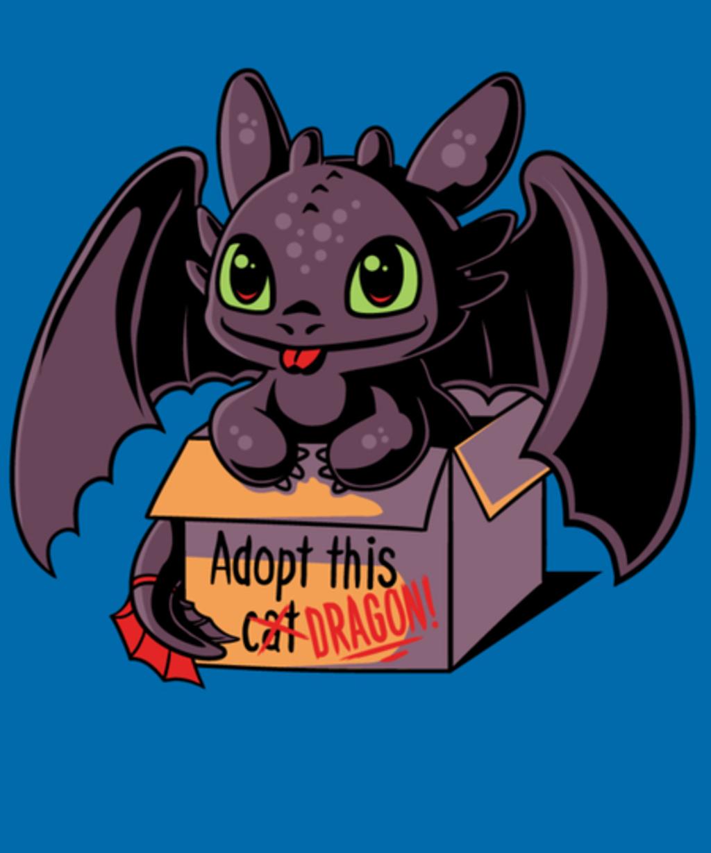 Qwertee: Adopt a Dragon
