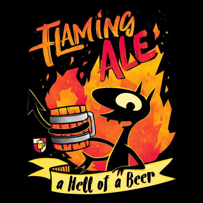 Once Upon a Tee: Flaming Ale