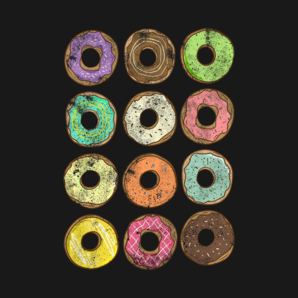 TeePublic: Colorful Donuts