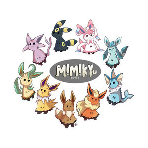 TeePublic: Mimikyu and the Eeveelutions T-Shirt
