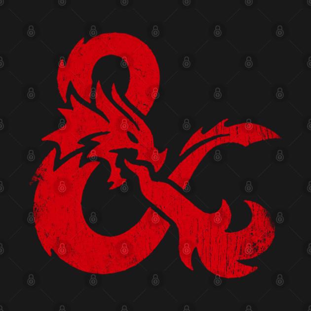 TeePublic: D&D Vintage logo