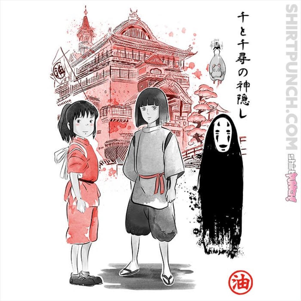 ShirtPunch: Spirited Sumi-e