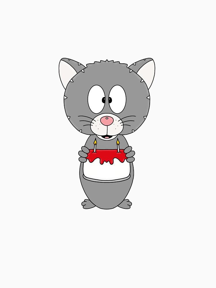 RedBubble: Katze - Cat - Geburtstag - Torte - Kinder