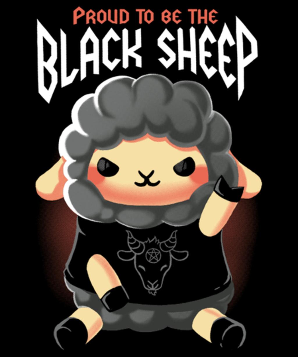 Qwertee: Black sheep