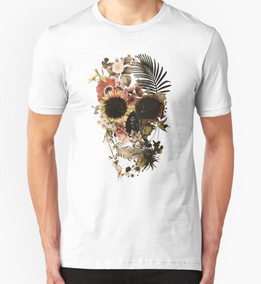 RedBubble: Garden Skull Light