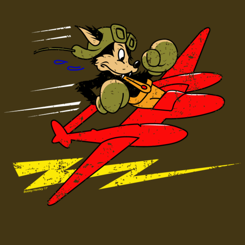 NeatoShop: Wolf P-38 Lightning WW2 logo