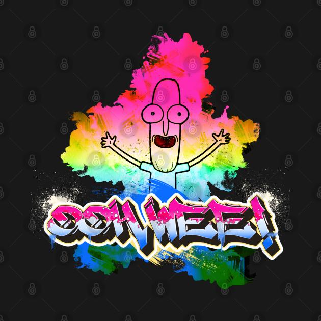 TeePublic: Ooh Wee! Grafitti Mr. Poopy Butthole Rainbow Paint