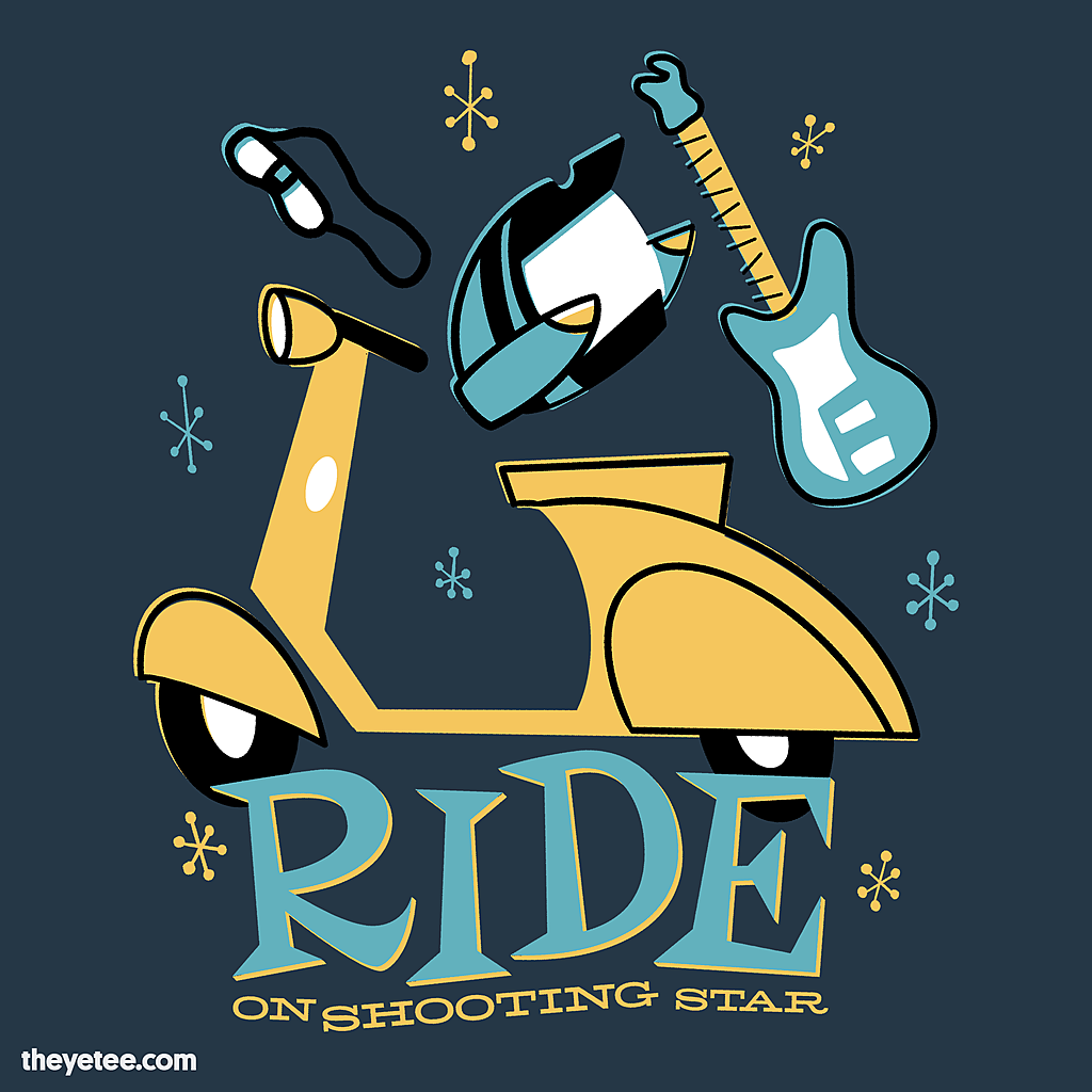 The Yetee: Ride On Shooting Star