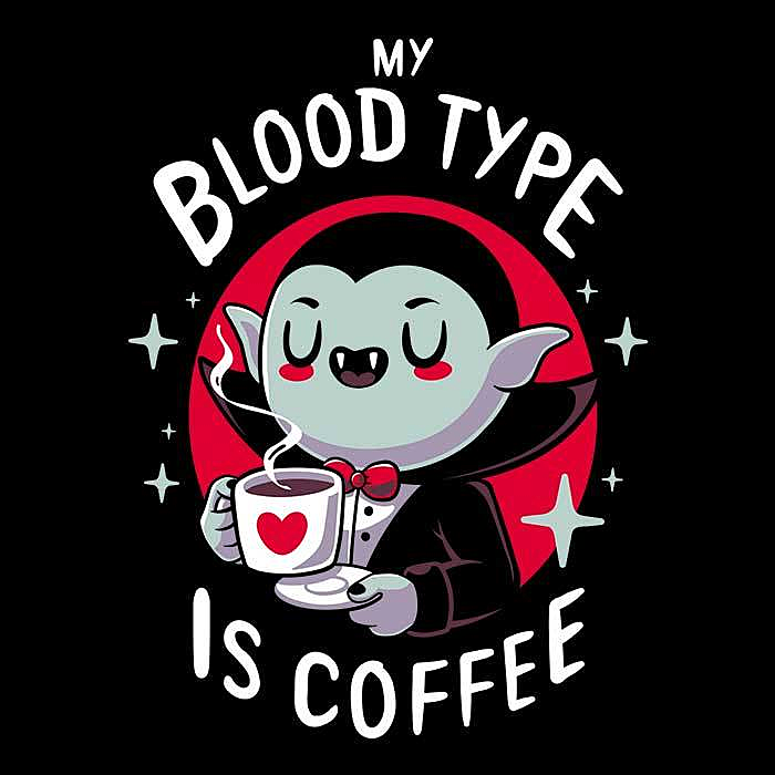 Once Upon a Tee: Coffee Vampire