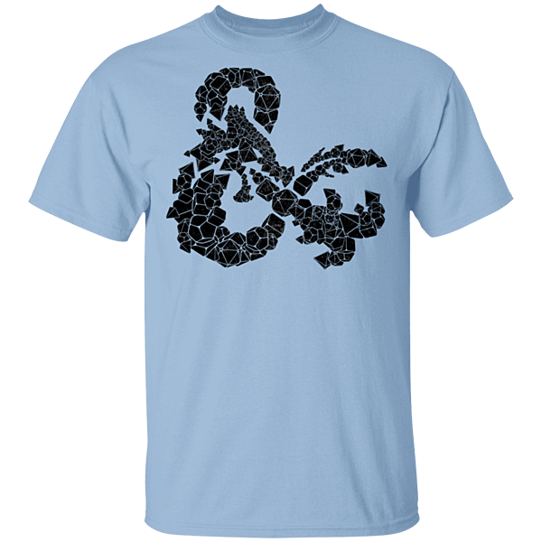 Pop-Up Tee: Dice and Dragon D&D
