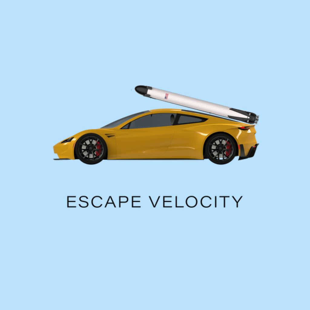 "NeatoShop: Space Roadster ""Escape Velocity"" (Yellow w/ Dark text)"