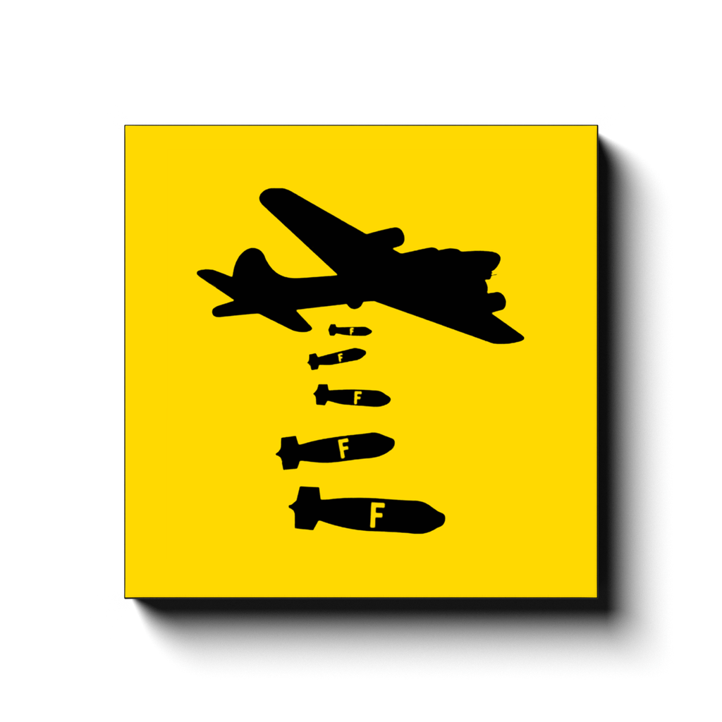 BustedTees: Dropping F Bombs Canvas Wraps