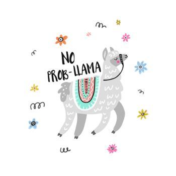 BustedTees: Funny llama T shirt - No Pro-llama
