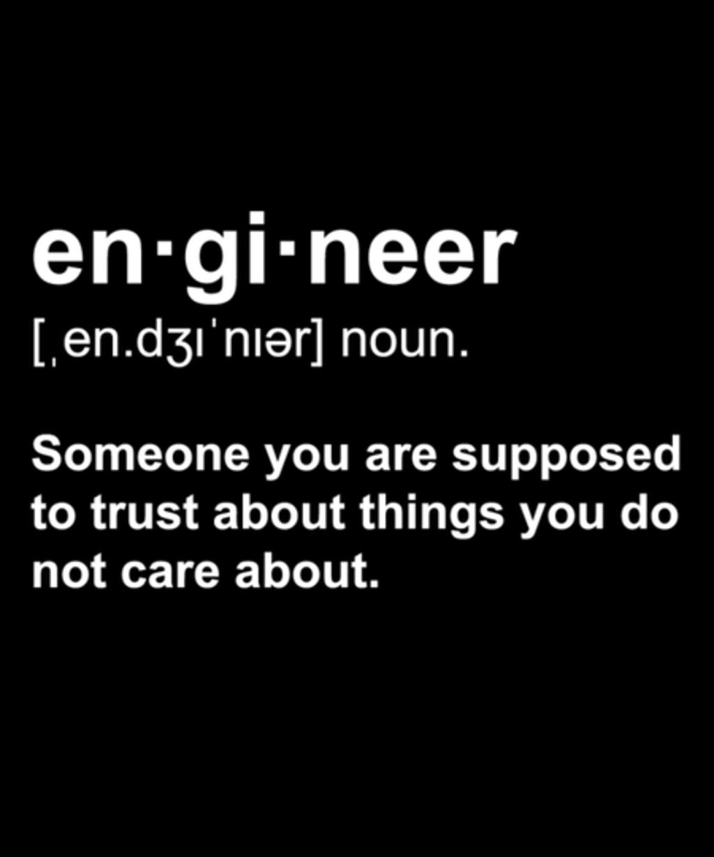 Qwertee: Engineer Definition
