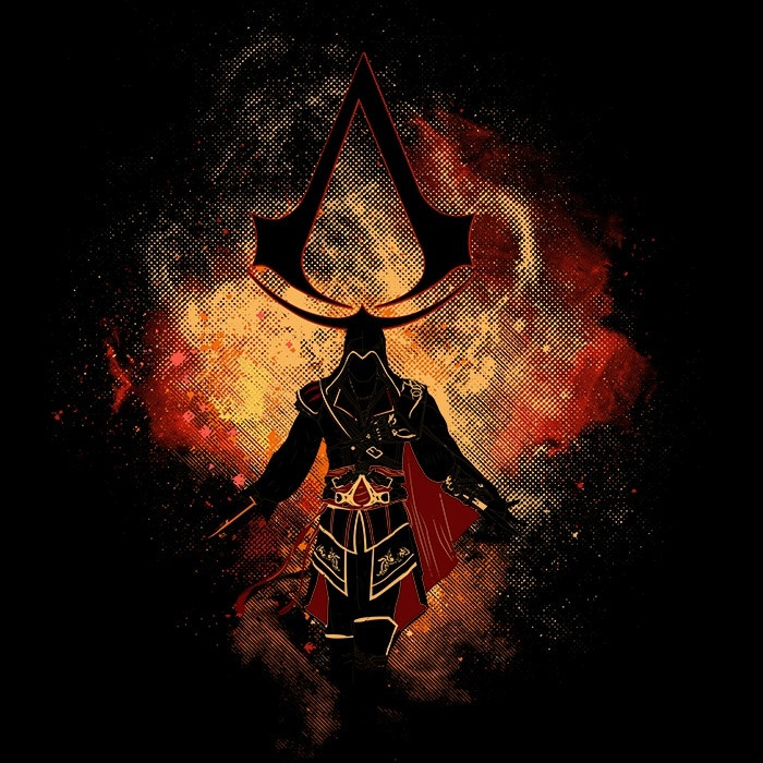 We Heart Geeks: Assassin Art - Men's T-Shirt
