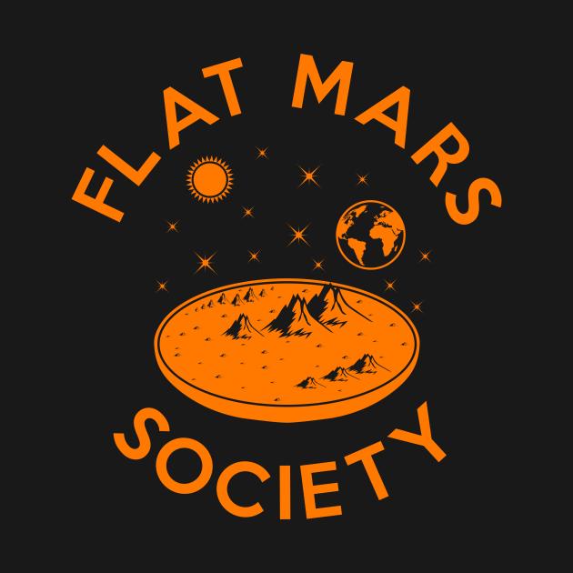 TeePublic: Flat mars society